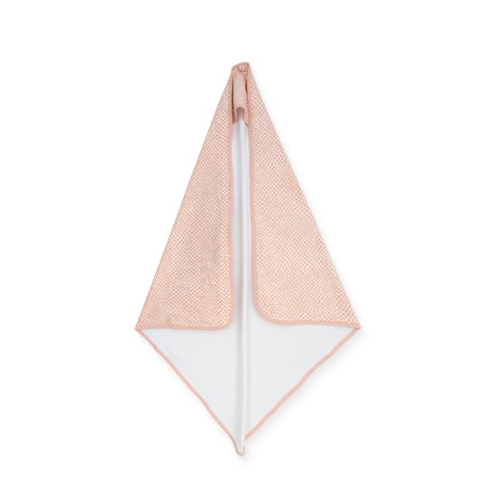 Jollein baba törölköző, 75x75 cm- Hamvas rózsaszín