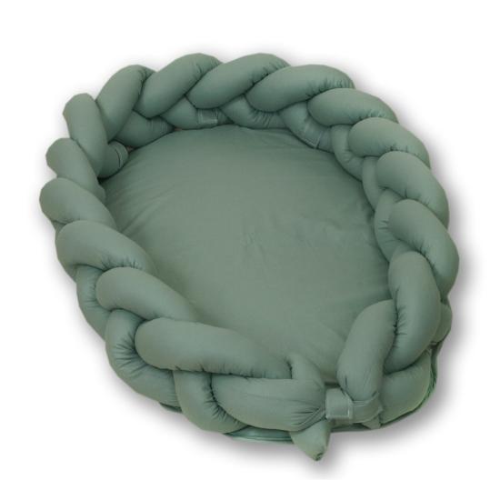 AMY Pure fonott babafészek- Kobaltzöld