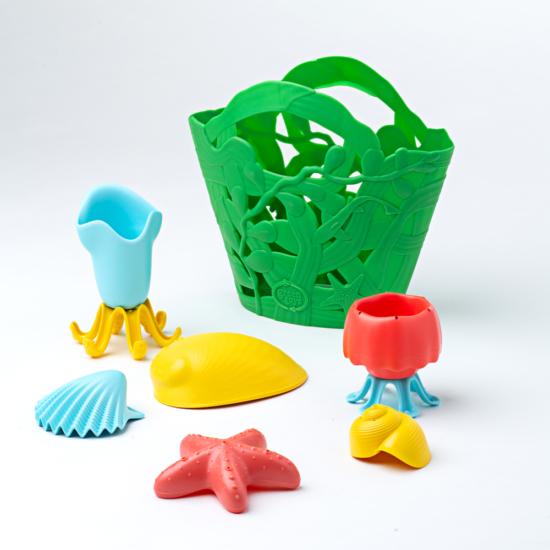 Óceán lakói fürdő játék készlet, zöld