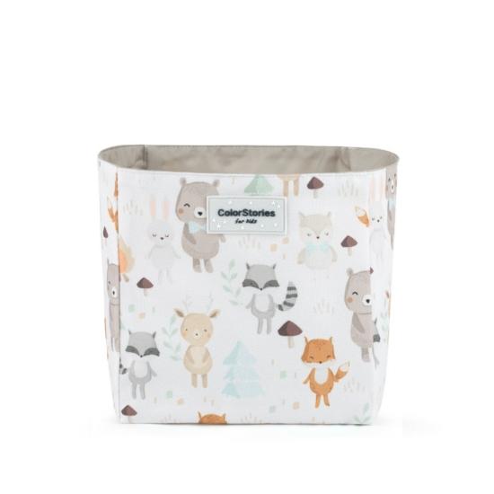 ColorStories tároló doboz, 16x16 cm- Erdei állatok