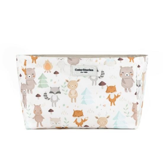 ColorStories tároló doboz, 16x24 cm- Erdei állatok