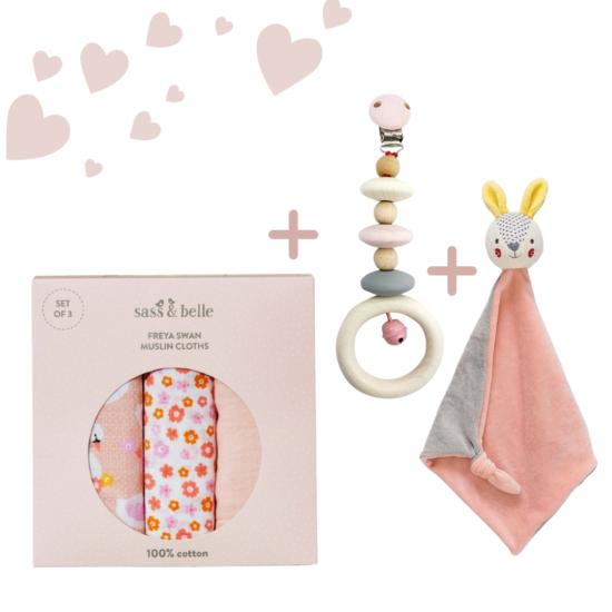 Nyuszi LUX babaváró ajándék csomag