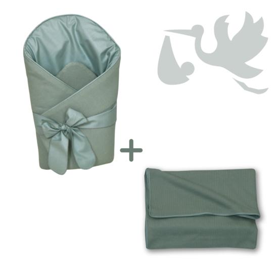 Kobaltzöld Basic újszülött hazahozó csomag, 2 részés