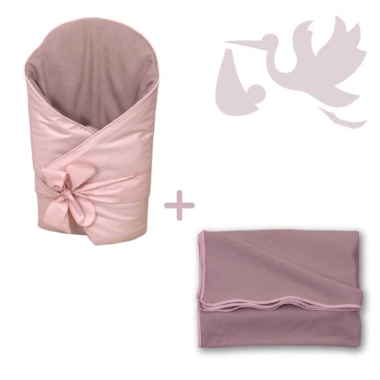 Rózsaszín Basic újszülött hazahozó csomag, 2 részes