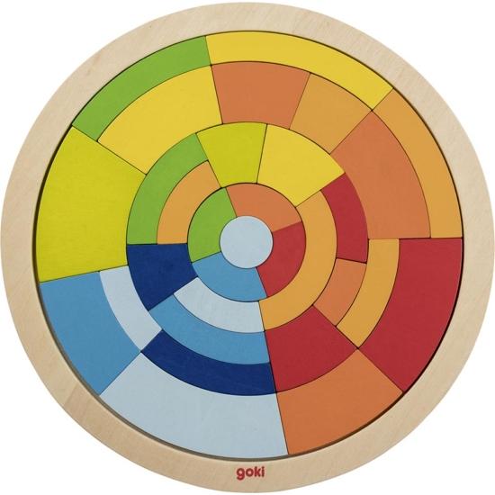 Fa szivárványos puzzle- 31 db-os