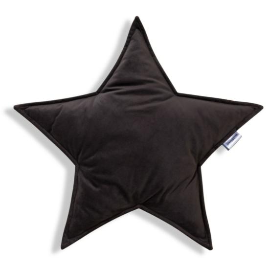 Bellochi gyerek díszpárna- Grafit szürke csillag
