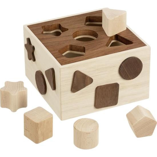 Formabedobó kocka, 12 db-os, natúr