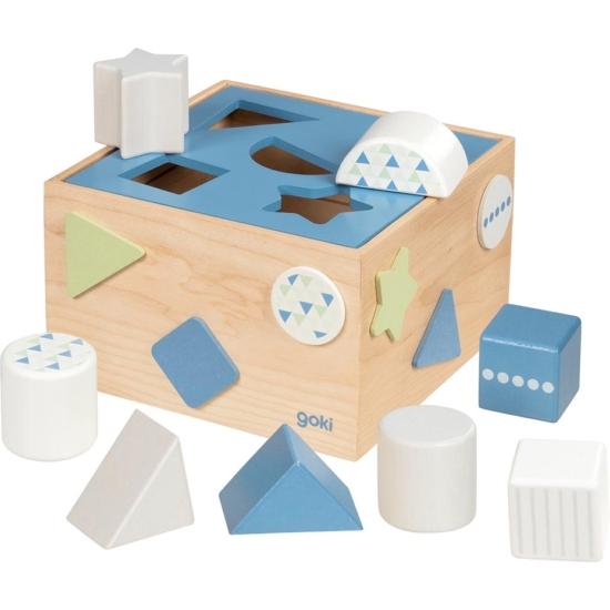 Formabedobó kocka, 12 db-os, kék