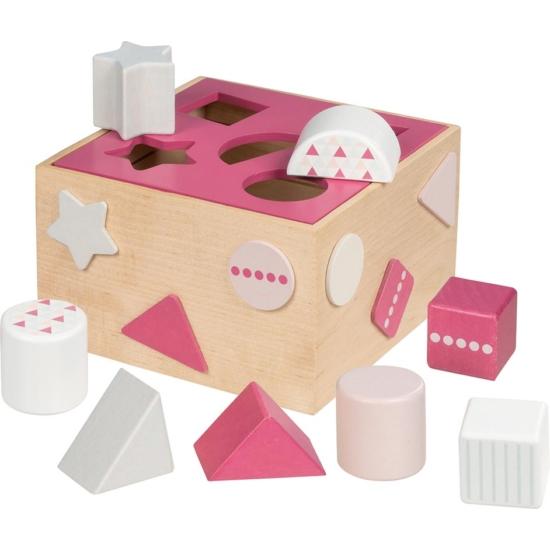 Formabedobó kocka, 12 db-os, rózsaszín