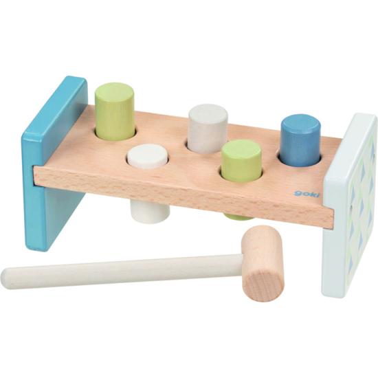 Kalapálós játék, pasztell kék