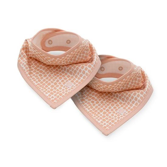 Jollein nyálkendő, 2 db- Hamvas rózsaszín
