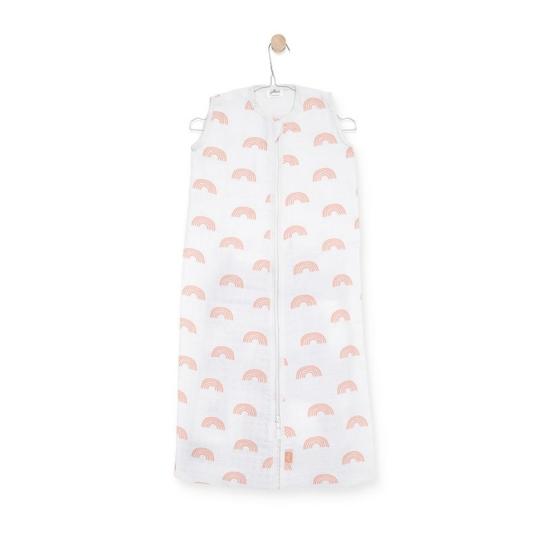Jollein nyári baba hálózsák, 70 cm- Púder szivárvány