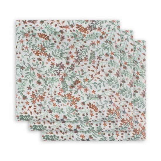 Jollein prémium textil pelenka, 70x70 cm, 3 db- Bloom