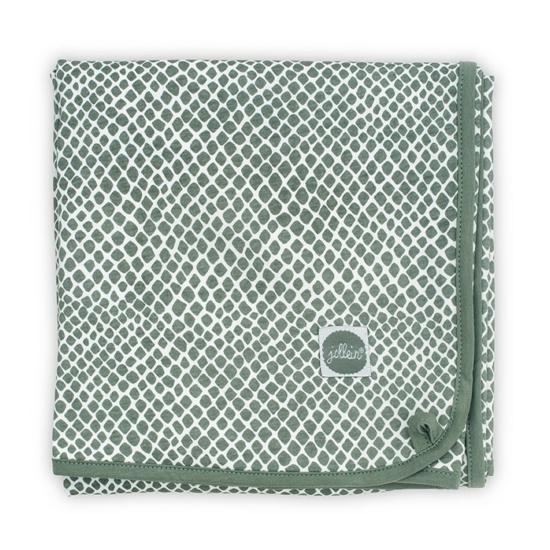 Jollein vékony baba takaró, 75x100 cm- Zsálya zöld