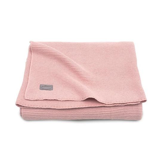Jollein vékony kötött baba takaró 100x150 cm- Púder rózsaszín