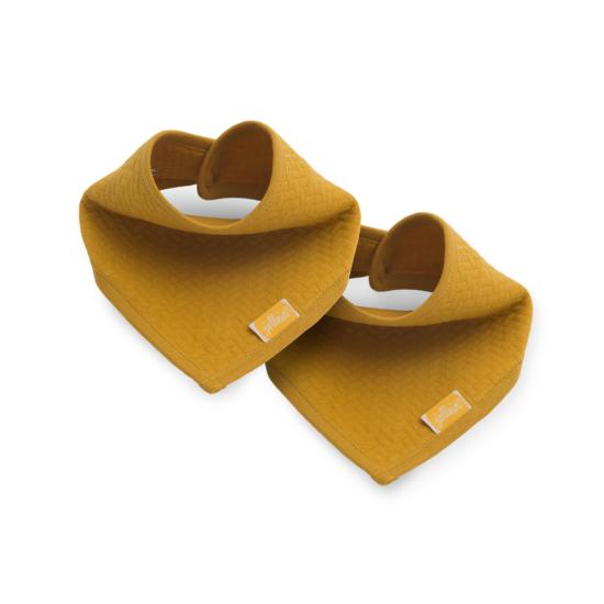 Jollein nyálkendő, 2 db- Mustársárga