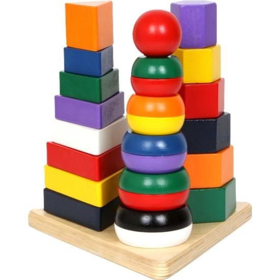 Montessori torony, 3az 1-ben piramisok