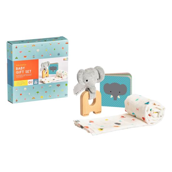 Elefántos baba ajándék szett