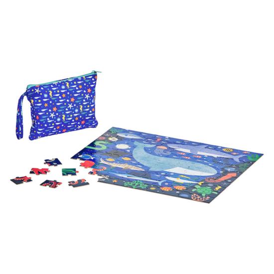 Kék óceán kétoldalú puzzle- 100 db-os