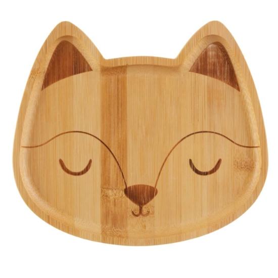 Sass and Belle bambusz gyerek tányér-Róka