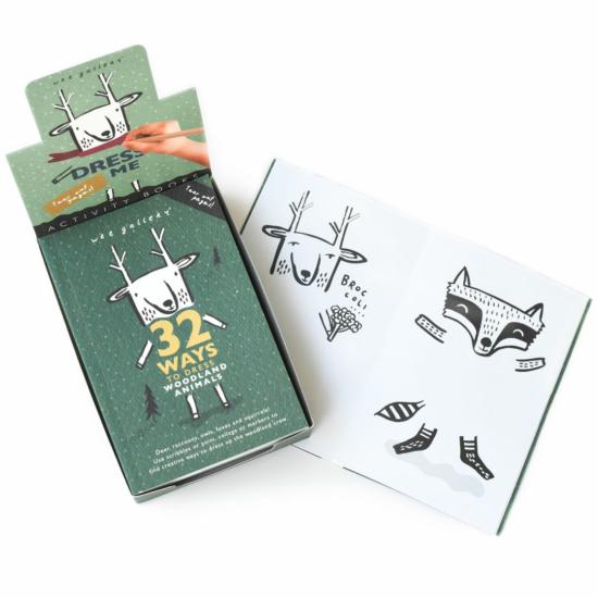 Színező zsebfüzet- Mit viselnek az erdei állatok?