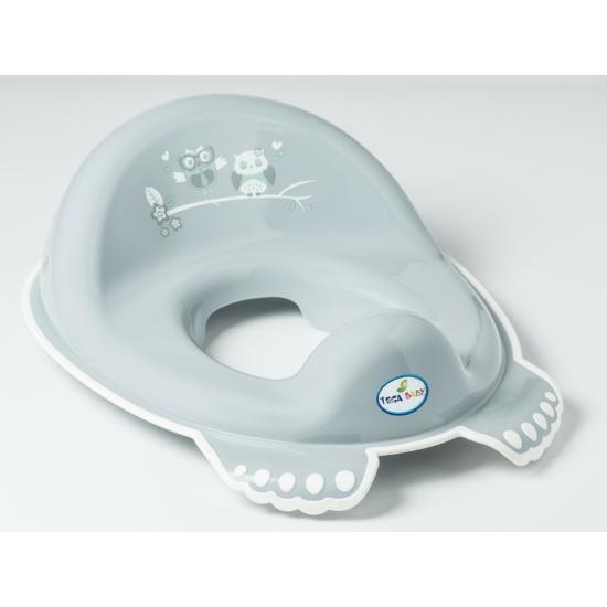 Tega Baby csúszásgátlós WC szűkítő- Szürke bagoly