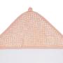 Kép 4/6 - Jollein baba törölköző, 75x75 cm- Hamvas rózsaszín