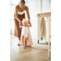 Kép 6/6 - Jollein baba törölköző, 75x75 cm- Hamvas rózsaszín
