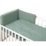 Kép 1/4 - AMY Pure babaágynemű szett rácsvédővel 3 db-os- Kobaltzöld