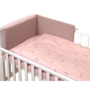 Kép 1/3 - AMY Pure babaágynemű szett rácsvédővel 3 db-os- Rózsaszín