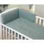 Kép 3/4 - AMY Pure babaágynemű szett rácsvédővel 3 db-os- Kobaltzöld