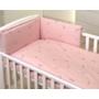 Kép 2/3 - AMY Pure babaágynemű szett rácsvédővel 3 db-os- Rózsaszín
