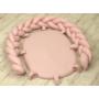 Kép 2/6 - AMY Pure fonott babafészek- Rózsaszín