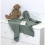 Kép 6/7 - AMY Pure babafészek + vékony kötött takaró, zöld