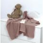 Kép 2/3 - AMY Pure kötött baba takaró 75x110 cm- Rózsaszín