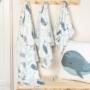 Kép 3/5 - ColorStories bambusz takaró, 100x120 cm- Óceán