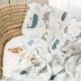 Kép 4/5 - ColorStories bambusz takaró, 100x120 cm- Óceán