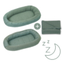 Kép 1/7 - AMY Pure babafészek + vékony kötött takaró, zöld