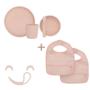 Kép 1/7 - Hamvas rózsaszín LUX gyerek étkészlet szett, 6 részes