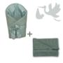 Kép 1/5 - Kobaltzöld Basic újszülött hazahozó csomag, 2 részés