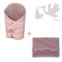 Kép 1/5 - Rózsaszín Basic újszülött hazahozó csomag, 2 részes