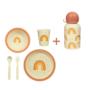 Kép 1/5 - Szivárvány Basic gyerek étkészlet szett, 6 részes