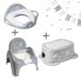 Kép 1/4 - Szürke bagoly LUX szobatisztaság szett-puha WC szűkítővel, 3 részes