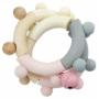 Kép 2/3 - Fa baba rágóka, csörgő- rózsaszín