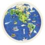 Kép 1/2 - Fa világtérkép puzzle- 57 db-os