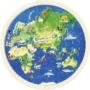 Kép 2/2 - Fa világtérkép puzzle- 57 db-os