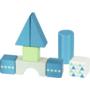 Kép 2/2 - Húzós játék 20 db építőkockával, pasztell kék