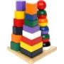 Kép 2/3 - Montessori torony, 3az 1-ben piramisok