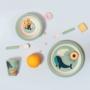 Kép 2/2 - Sass and Belle bambusz gyerek étkészlet, 5 db-os- Védett állatok